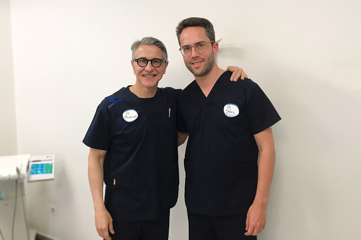 Los doctores Pedro Buitrago y Andrés López